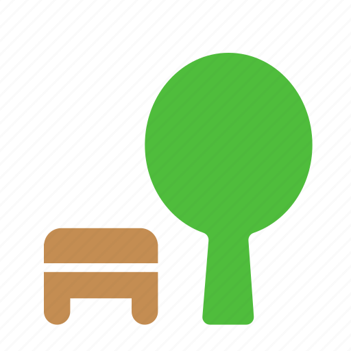 bench, eco, garden, nature, park, rest, tree icon