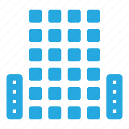buildings, city, downtown, high, penthouse, rise, skyscrapers icon