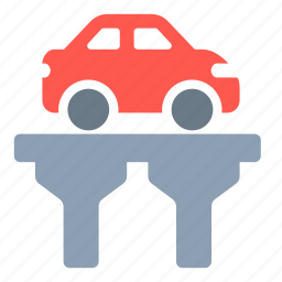 bridge, car, highway, overpass, road, skyway icon