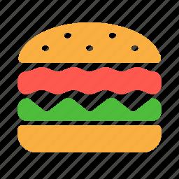 burger, cafe, fast food, fastfood, hamburger icon