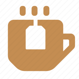cup, hot, tea, tea bag icon