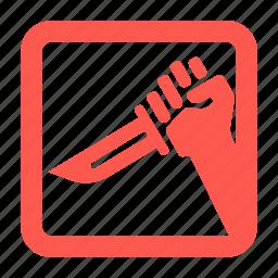 cinema, culture, kill, knife icon