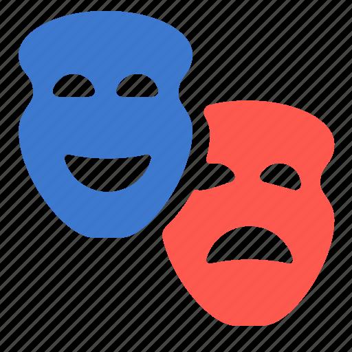 mask, rights, roles, theatre icon