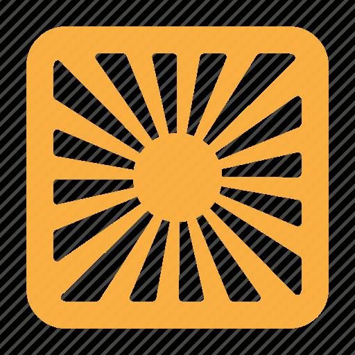 image, ray, summer, sun, sunny icon