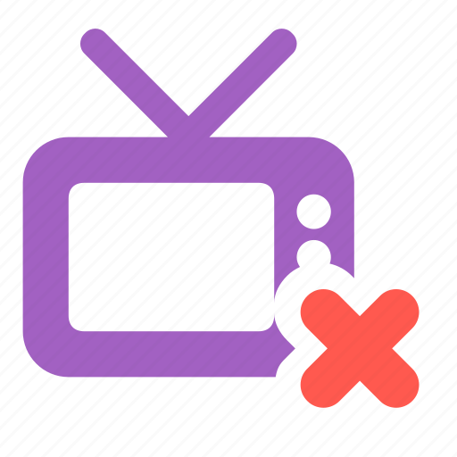 channel, delete, remove, television, tv icon