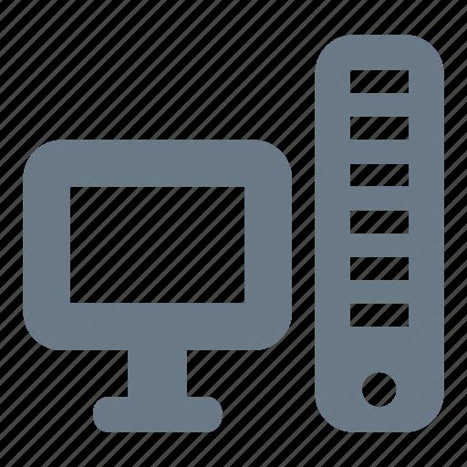 computer, desktop, hardware, pc, server icon