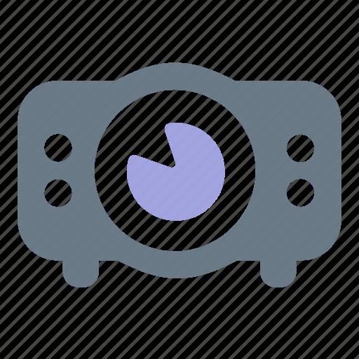 light, media, optic, presentation, projector, video, visual icon
