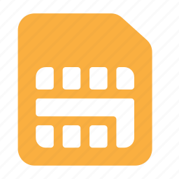 card, mobile, phone, sim, sim card, telephone icon