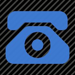 contact, phone, retro, stationary, telephone, vintage icon