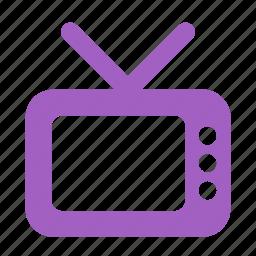 entertainment, movie, screen, television, tv, tv set icon