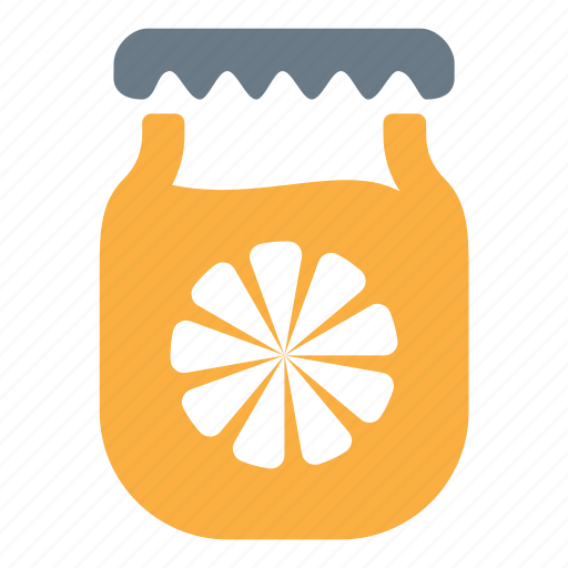 citrus, jam, jar, lemon icon