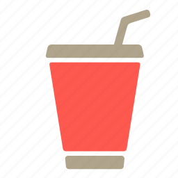 cola, drink, paper cup, soda icon