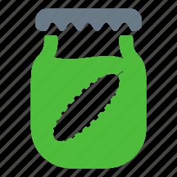 cucumbers, food, preserves, salt icon