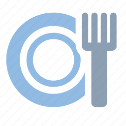cafe, dining, food, fork, plate, restaurant icon