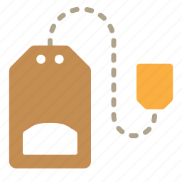 drink, hot, tea, tea bag icon