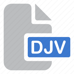 djv, document, extension, file icon