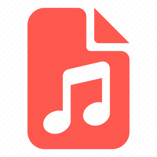 audio, document, file, music icon