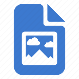 document, file, image, landscape, photo icon