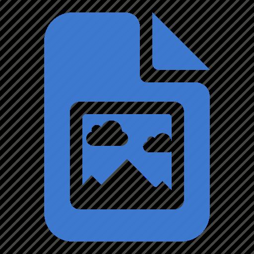 document, file, image, landscape, photo icon