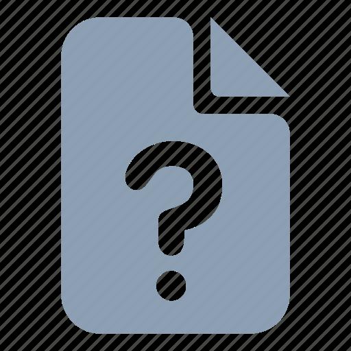 data, document, file, unknown icon