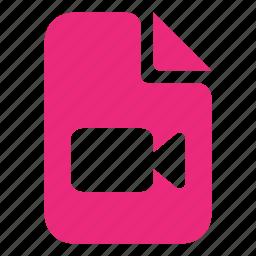 document, documents, movie, video icon