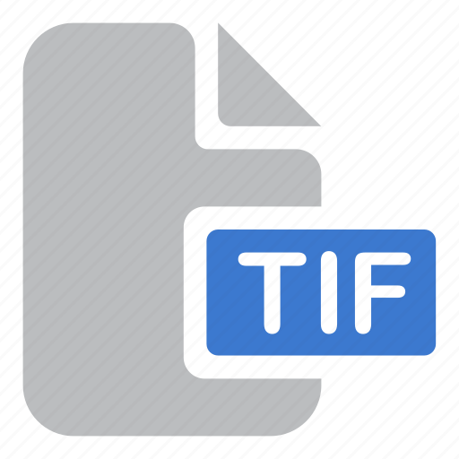 document, extension, file, tif icon
