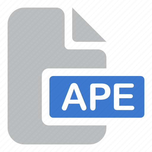 ape, audio, document, extension, file icon