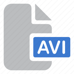 avi, document, extension, file, movie, video icon
