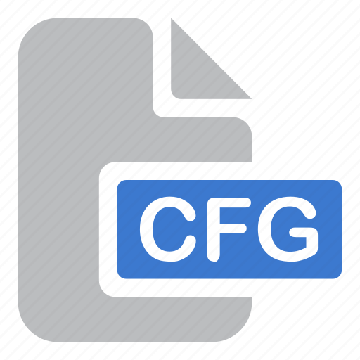 cfg, document, extension, file icon