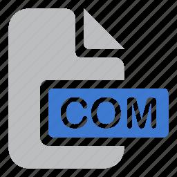 com, document, extension, file, icojam icon