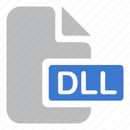 dll, document, extension, file, library icon