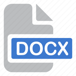 document, docx, extension, file, text icon