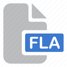 animation, document, extension, file, fla, flash icon