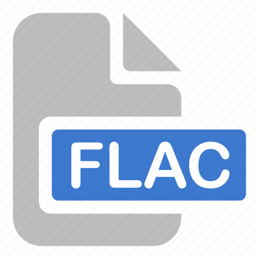 audio, document, extension, file, flac, lossless, music icon