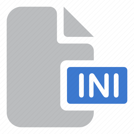 document, extension, file, ini icon