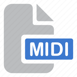 audio, document, extension, file, midi, music icon