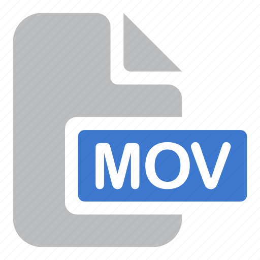 document, extension, file, mov, movie, video icon