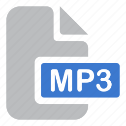 audio, document, extension, file, mp3, music icon