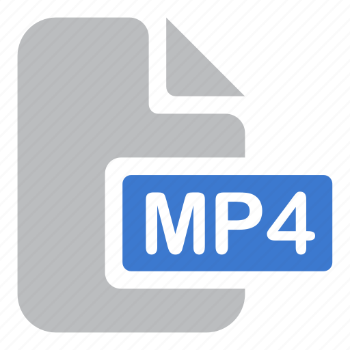 extension, file, movie, mp4, video icon