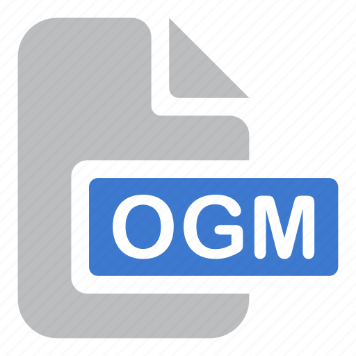 document, extension, file, ogm icon