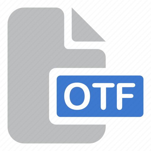 document, extension, file, font, otf icon