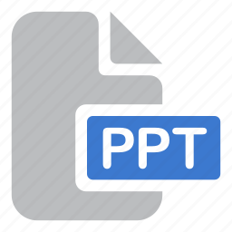 document, extension, file, ppt, presentation icon