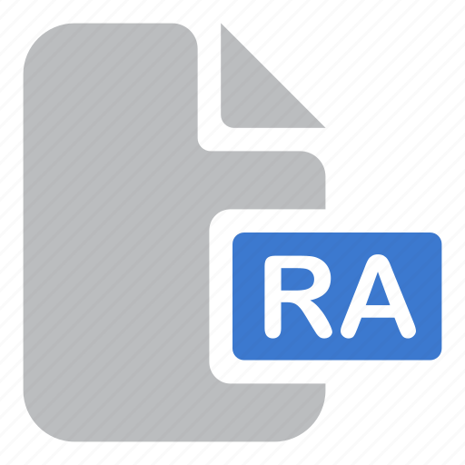 document, extension, file, ra icon