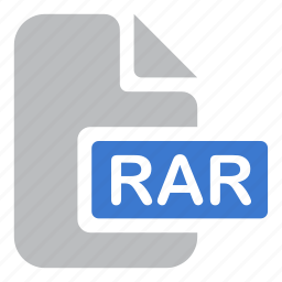 archive, document, extension, file, rar icon