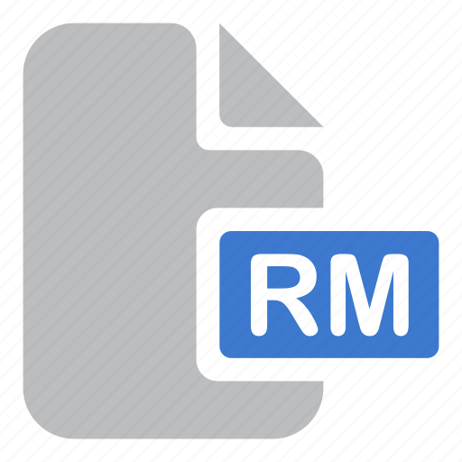 audio, document, extension, file, music, rm icon