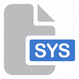 document, extension, file, sys, system icon