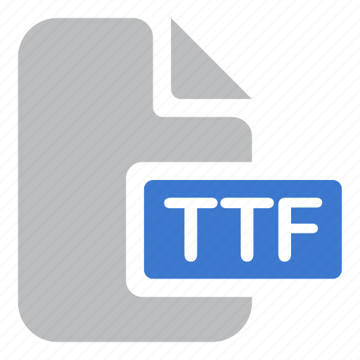 document, extension, file, font, ttf icon