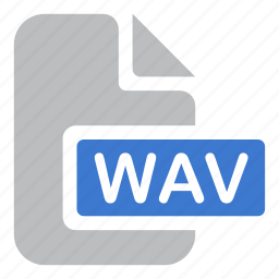 document, extension, file, wav icon