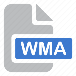 audio, document, extension, file, wma icon