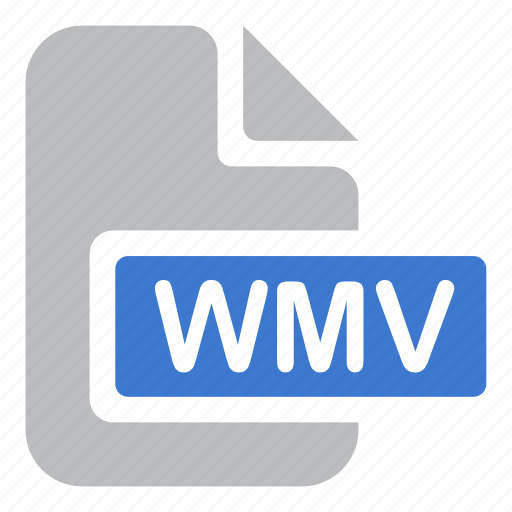 document, extension, file, video, wmv icon